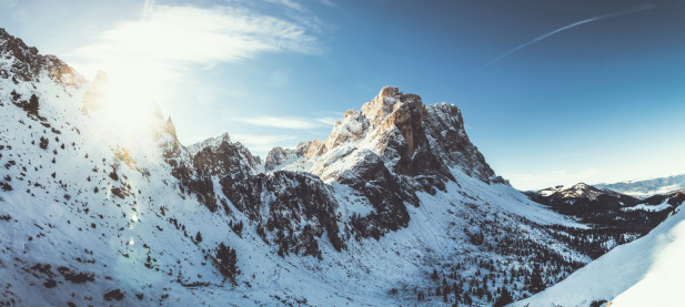 Alto Adige - Italy「The Dolomites at Sunrise: Odle Mountains in Winter」:スマホ壁紙(16)