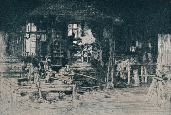 Etching「The Workshop, Stirling', 1905.」:写真・画像(0)[壁紙.com]
