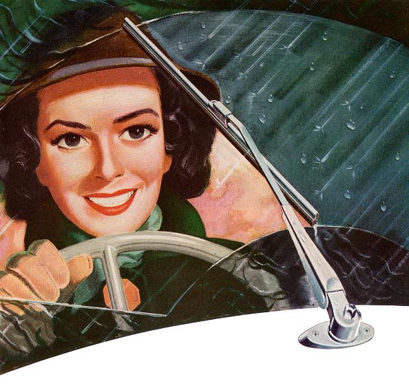 運転手「Woman Driving In Rain」:写真・画像(4)[壁紙.com]