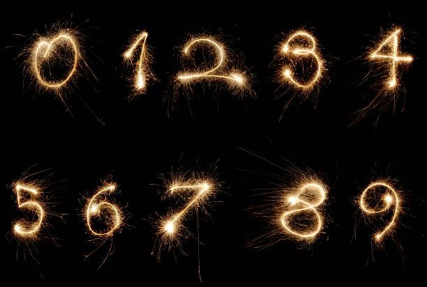 sparkler numbers:スマホ壁紙(壁紙.com)