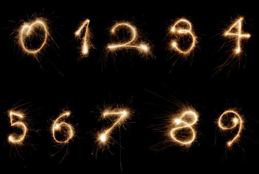 Number 9「sparkler numbers」:スマホ壁紙(8)