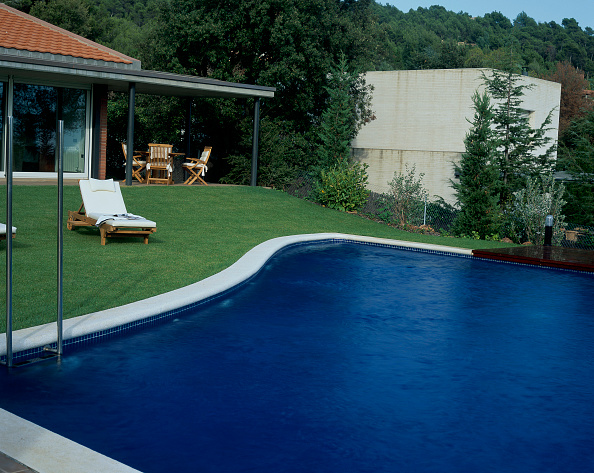 Grass「View of a swimming pool beside a lawn」:写真・画像(8)[壁紙.com]