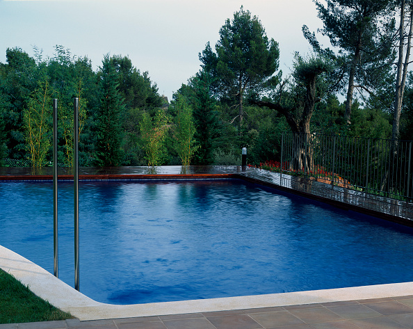Grass「View of a swimming pool with trees at the back」:写真・画像(11)[壁紙.com]