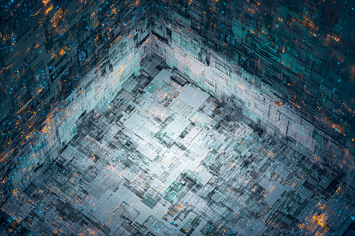Quantum Computing「Abstract technology background image」:スマホ壁紙(6)