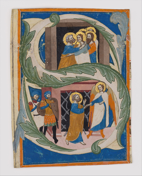 Tempera Painting「Initial S With Saint Peter Liberated From Prison」:写真・画像(7)[壁紙.com]