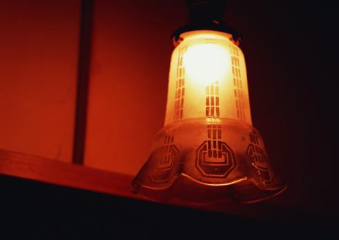 京都の夜「Glass Lamp Shade」:スマホ壁紙(11)