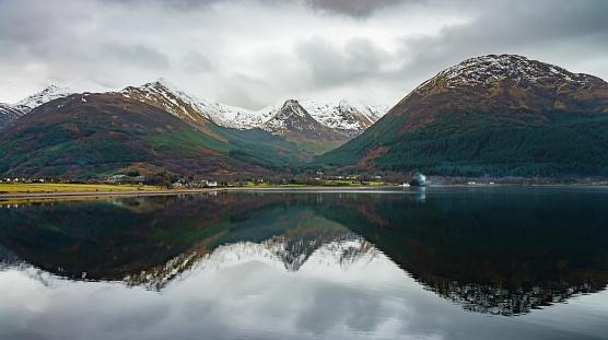 スコットランド文化「スコットランド高地山の反射リニー湖」:スマホ壁紙(17)