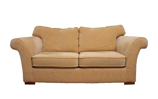 シルエット「クリーム色の快適なソファーで分離白背景」:スマホ壁紙(10)
