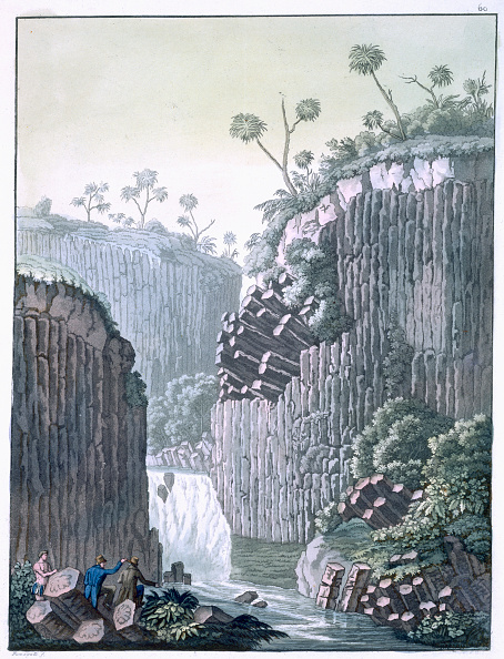 Basalt「Explorers With Humboldt's Expedition At The Basalt Cliffs At Regla Mexico circa 1820-1839」:写真・画像(11)[壁紙.com]