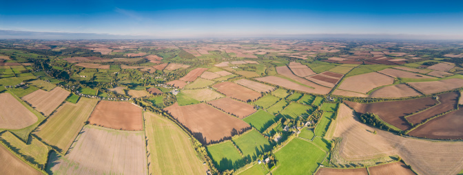 Plowed Field「Rural quilt patchwork panorama」:スマホ壁紙(10)