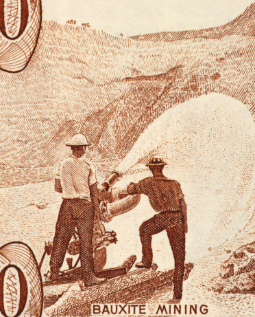 Bauxite「Bauxite Mining on 10 Dollars 1992 Banknote from Guyana.」:スマホ壁紙(10)