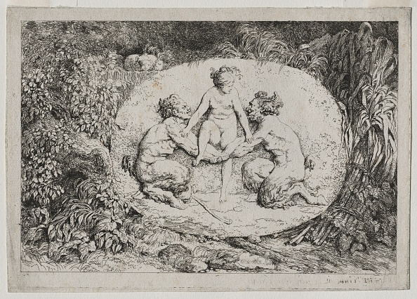 Etching「Bacchanales: Nymph Supported By Two Satyrs」:写真・画像(18)[壁紙.com]