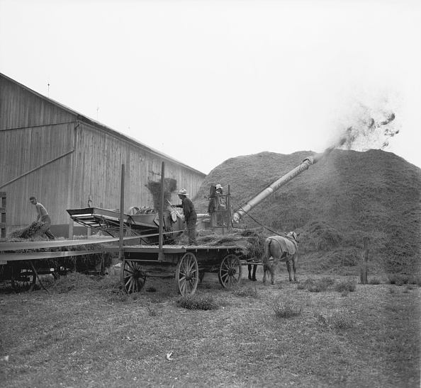 Combine Harvester「Men Working Threshing Machine」:写真・画像(19)[壁紙.com]