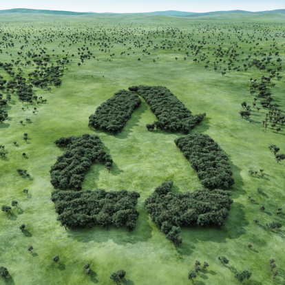 Recycling「Forest shaped recycling symbol」:スマホ壁紙(1)