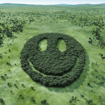 Anthropomorphic Smiley Face「Forest shaped smiley」:スマホ壁紙(13)