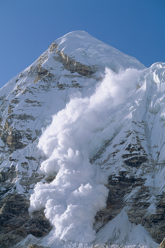 Himalayas「Powerful Avalanche on Pumori」:スマホ壁紙(9)