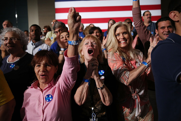 West Palm Beach「Democratic Presidential Candidate Hillary Clinton Holds Primary Night Event In Florida」:写真・画像(5)[壁紙.com]