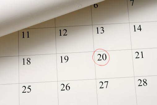 Calendar「Setting a date on calendar by red pen」:スマホ壁紙(13)