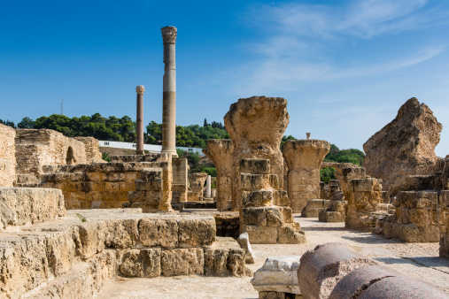Ancient Civilization「Ruins of Antonine Baths complex in Carthage」:スマホ壁紙(2)