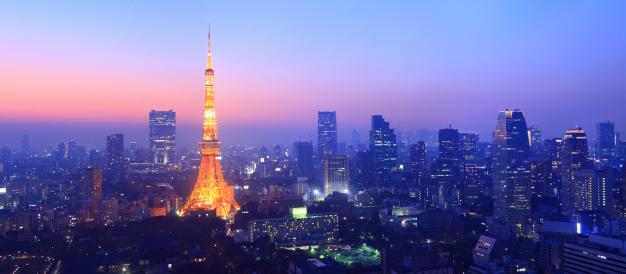 Tokyo Tower「panorama tokyos skyline at twilight」:スマホ壁紙(4)