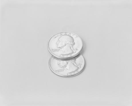 米国硬貨「US coins on white background」:スマホ壁紙(16)