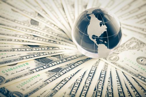 Stock Certificate「glass globe and money」:スマホ壁紙(12)