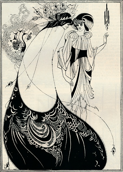 Ornate「'The Peacock Girl', 1893. Artist: Aubrey Beardsley.」:写真・画像(1)[壁紙.com]