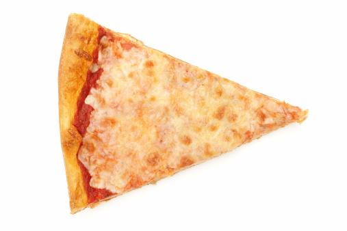 一切れ「チーズのピザスライス白で分離」:スマホ壁紙(12)