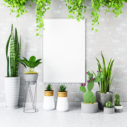 Gardening「Mock up Frame with Plants」:スマホ壁紙(15)