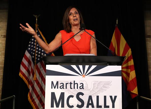Politics and Government「Arizona GOP Senate Candidate Martha McSally Attends Primary Night Event In Tempe」:写真・画像(1)[壁紙.com]