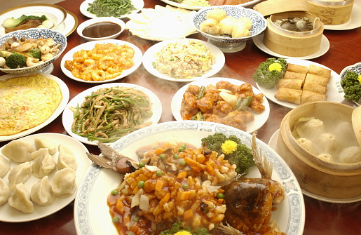 豊富「Chinese dishes on table, close up」:スマホ壁紙(16)