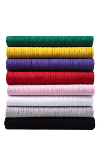 布柄「カラフルな折り返し服」:スマホ壁紙(2)