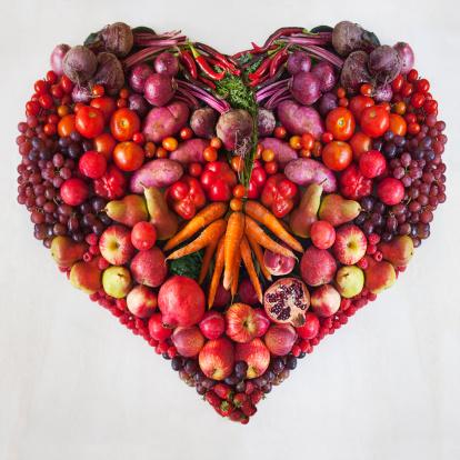ハート「Colorful Food Heart」:スマホ壁紙(12)