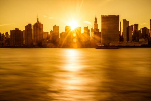 United Nations Building「New York Skyline」:スマホ壁紙(7)