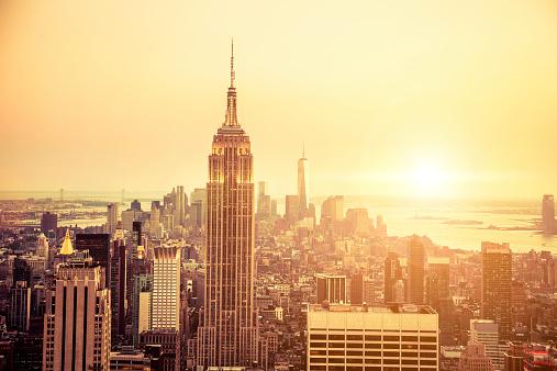 Empire State Building「New York skyline to Midtown and Lower Manhattan」:スマホ壁紙(8)