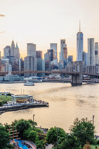 New York State「New York skyline at sunset」:スマホ壁紙(11)