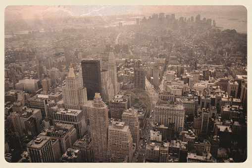Auto Post Production Filter「New York Skyline Post 9/11 - Sepia Postcard」:スマホ壁紙(15)