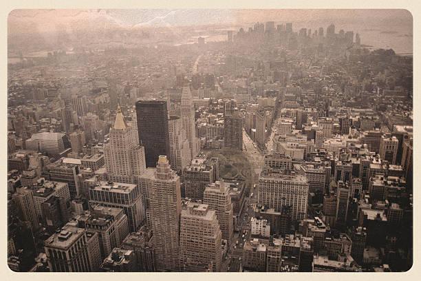 New York Skyline Post 9/11 - Sepia Postcard:スマホ壁紙(壁紙.com)