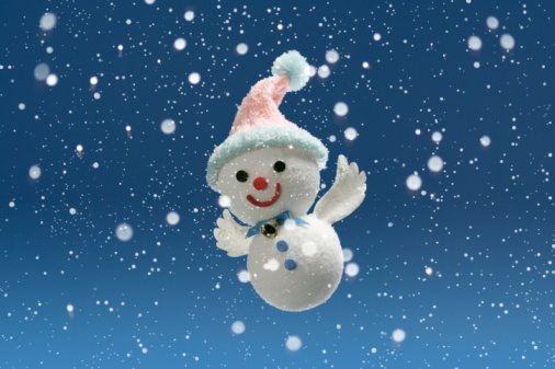 Flying Snowman:スマホ壁紙(壁紙.com)