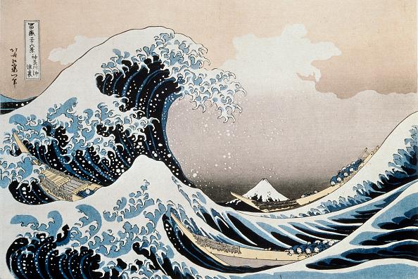 'The Great Wave off the Coast of Kanagawa', c1829-c1831. Artist: Hokusai:ニュース(壁紙.com)