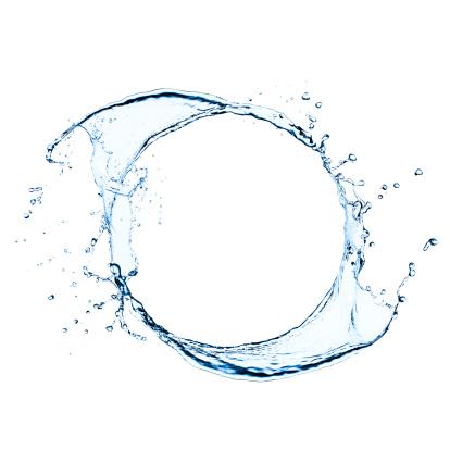フォトフレームをフリーズ水はねの渦巻き:スマホ壁紙(壁紙.com)