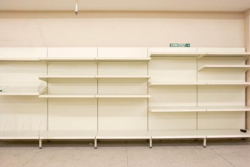 Shelf「Empty closed supermarket in credit crunch」:スマホ壁紙(8)