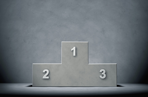 Number「Concrete Winners Podium on a concrete Background」:スマホ壁紙(18)