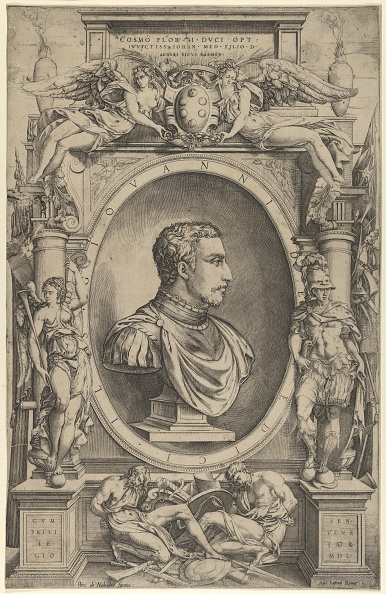 Patriotism「Portrait Of Giovanni De Medici Facing Right Within An Elaborate Cartouche Flanked By Vict」:写真・画像(17)[壁紙.com]