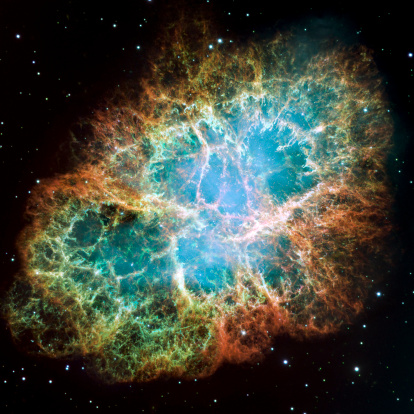 Supernova「This is a mosaic image the Crab Nebula, a six-light-year-wide expanding remnant of a star's supernova explosion.」:スマホ壁紙(6)