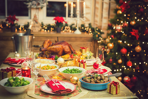 Turkey - Bird「Table set up for Christmas Dinner」:スマホ壁紙(13)