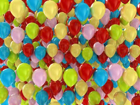 Celebration「Colorful Balloons Background」:スマホ壁紙(16)