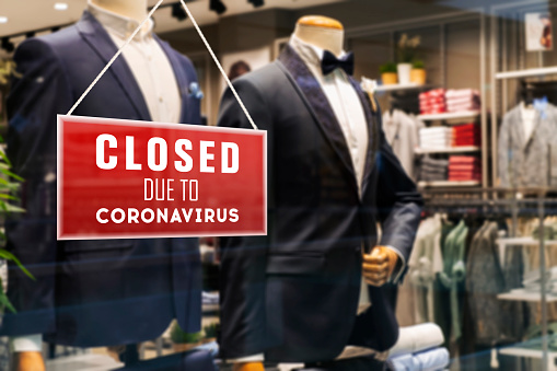 COVID-19「Closed Suit Store Due To Coronavirus」:スマホ壁紙(11)