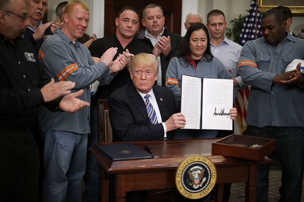 Steel「President Trump Signs Section 232 Proclamations On Steel And Aluminum Imports」:写真・画像(19)[壁紙.com]