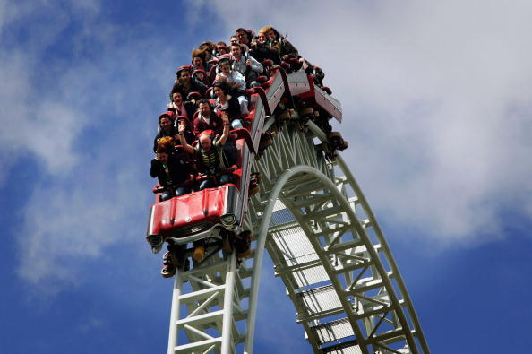 Rollercoaster「People Enjoy Bank Holiday Monday At Thorpe Park」:写真・画像(0)[壁紙.com]